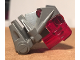 Part No: 32553c09  Name: Bionicle Head Connector Block 3 x 4 x 1 2/3 with Trans-Red Bionicle Head Connector Block Eye/Brain Stalk (32553 / 32554)