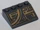 Part No: 3297pb040L  Name: Slope 33 3 x 4 with Dark Tan Quarter Circle Pattern Model Left Side (Sticker) - Set 75186