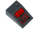 Part No: 3298pb061  Name: Slope 33 3 x 2 with Head-Up Display (HUD), Red Light Bar and Buttons Pattern (Sticker) - Set 76027