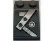 Part No: 3298pb069L  Name: Slope 33 3 x 2 with Beams and Bolts Pattern Model Left Side (Sticker) - Set 7961