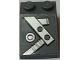 Part No: 3298pb069R  Name: Slope 33 3 x 2 with Beams and Bolts Pattern Model Right Side (Sticker) - Set 7961