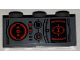 Part No: 3622pb118  Name: Brick 1 x 3 with SW Black and Red Target Monitor and Buttons Pattern (Sticker) - Set 75243