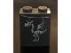 Part No: 3678bpb117  Name: Slope 65 2 x 2 x 2 with Bottom Tube with Dragon Skeleton Pattern (Sticker) - Set 71043
