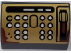Part No: 37352pb007  Name: Slope, Curved 1 x 2 x 1 with Buttons and Lever on Pearl Gold Background Pattern (Sticker) - Set 75978
