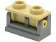 Part No: 3937c13  Name: Hinge Brick 1 x 2 Base with Tan Hinge Brick 1 x 2 Top (3937 / 3938)