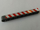 Part No: 40490pb029R  Name: Technic, Liftarm 1 x 9 Thick with Red and White Danger Stripes Model Right Side Pattern (Sticker) - Set 8289
