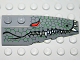 Part No: 41747pb019  Name: Wedge 6 x 2 Right with Reptile Skin, Red Eye, White Teeth Pattern
