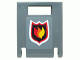 Part No: 4346pb20  Name: Container, Box 2 x 2 x 2 Door with Slot and City Fire Logo Badge on Dark Bluish Gray Background Pattern (Sticker) - Set 7942
