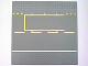 Part No: 44336pb02  Name: Baseplate, Road 32 x 32 6-Stud Straight with Yellow & White Pit Lane Pattern