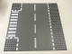 Part No: 44341px2  Name: Baseplate, Road 32 x 32 6-Stud T Intersection with White Dashed Lines and Crosswalk Pattern