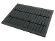 Part No: 4515pb063  Name: Slope 10 6 x 8 with Roof Tiles and Reddish Brown Dirt Pattern (Sticker) - Set 60173