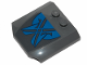 Part No: 45677pb116  Name: Wedge 4 x 4 x 2/3 Triple Curved with Blue Markings with Black Outline Pattern (Sticker) - Set 75258