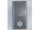 Part No: 48288pb06  Name: Tile 8 x 16 with Bottom Tubes on Edges with White Safety Stripes and EMT Star of Life Pattern (Stickers) - Set 7892