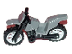 Part No: 50860c10  Name: Motorcycle Dirt Bike with Black Chassis (Short Fairing Mounts) and Light Bluish Gray Wheels