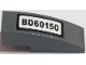 Part No: 50950pb119  Name: Slope, Curved 3 x 1 with 'BD60150' License Plate Pattern (Sticker) - Set 60150