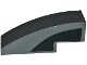 Part No: 50950pb124R  Name: Slope, Curved 3 x 1 with Curved Black Window Area on Dark Bluish Gray Background Pattern Model Right Side (Sticker) - Set 75877
