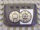 Part No: 52031pb001  Name: Wedge 4 x 6 x 2/3 Triple Curved with GC Bank Logo Pattern (Sticker) - Set 7781