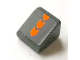 Part No: 54200pb059  Name: Slope 30 1 x 1 x 2/3 with Orange Arrows Pattern (Sticker) - Set 8154