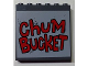 Part No: 59349pb090  Name: Panel 1 x 6 x 5 with Red 'ChUM BUCKET' Pattern (Sticker) - Set 4981