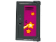 Part No: 60614pb002  Name: Door 1 x 2 x 3 with Vertical Handle, New Mold with School Locker with 2 Orange Stars and Shooting Star with 'S' Pattern (Sticker) - Set 41005