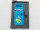 Part No: 60614pb005L  Name: Door 1 x 2 x 3 with Vertical Handle, Mold for Tabless Frames with Pool Locker, White Waves and Lime Fish Pattern (Sticker) - Set 41313