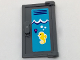 Part No: 60614pb005R  Name: Door 1 x 2 x 3 with Vertical Handle, Mold for Tabless Frames with Pool Locker, White Waves and Bright Light Orange Seahorse Pattern (Sticker) - Set 41313
