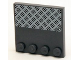 Part No: 6179pb052  Name: Tile, Modified 4 x 4 with Studs on Edge with 4 White Rivets on Silver Tread Plate Pattern (Sticker) - Set 4204