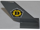 Part No: 6239pb036  Name: Tail Shuttle with Dino Logo Pattern on Both Sides (Stickers)