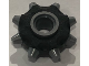 Part No: 64829pb01  Name: Minifigure, Gear Wheel RIP-Tire with Black Pattern