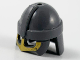 Part No: 67037pb01  Name: Minifigure, Headgear Helmet Neck Guard with Gold Nose and Cheek Guard Pattern