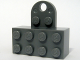 Part No: 74188c01  Name: Brick, Modified 2 x 4 Sealed Base with Magnet and Extension Plate with 2 Studs and Hole