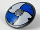 Part No: 75902pb15  Name: Minifigure, Shield Round with Rounded Front with Blue and White Alternating Panels Pattern