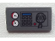 Part No: 85984pb033  Name: Slope 30 1 x 2 x 2/3 with Gauges, Buttons, Blue Bar and Radio on Transparent Background Pattern (Sticker) - Set 60023