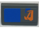 Part No: 85984pb156R  Name: Slope 30 1 x 2 x 2/3 with Orange Markings and Blue Rectangle Pattern Model Right Side (Sticker) - Set 7962