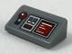 Part No: 85984pb168  Name: Slope 30 1 x 2 x 2/3 with Light Bluish Gray Control Panel, Dark Red Joystick, Buttons and Readout Pattern (Sticker) - Set 75175