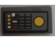 Part No: 85984pb170  Name: Slope 30 1 x 2 x 2/3 with SW Control Panel and Buttons Pattern (Sticker) - Set 9515