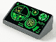 Part No: 85984pb176  Name: Slope 30 1 x 2 x 2/3 with Green Gauges and Radar Screen on Black Background Pattern