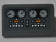 Part No: 85984pb228  Name: Slope 30 1 x 2 x 2/3 with Four Light Bluish Gray Gauges and Buttons Pattern (Sticker) - Set 76067