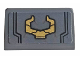 Part No: 85984pb262  Name: Slope 30 1 x 2 x 2/3 with Gold Horns Pattern (Sticker) - Set 76107