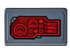 Part No: 85984pb264L  Name: Slope 30 1 x 2 x 2/3 with Red Control Panel, Sight and Radar Pattern Model Left Side (Sticker) - Set 76159