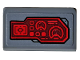 Part No: 85984pb264R  Name: Slope 30 1 x 2 x 2/3 with Red Control Panel, Sight and Radar Pattern Model Right Side (Sticker) - Set 76159