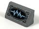 Part No: 85984pb265  Name: Slope 30 1 x 2 x 2/3 with Bright Light Blue Oscilloscope on Black Oval Pattern (Sticker) - Set 76153