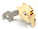 Part No: 87567pb01  Name: Minifigure, Head Modified SW General Grievous (Clone Wars) Tan Pattern
