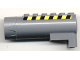 Part No: 87944pb01  Name: Air Blast Launcher Receiver (Racers) with Black and Yellow Danger Stripes Pattern on Both Sides (Stickers) - Set 7968