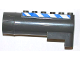 Part No: 87944pb02  Name: Air Blast Launcher Receiver (Racers) with Blue and White Danger Stripes Pattern on Both Sides (Stickers) - Set 7970