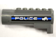 Part No: 87944pb05  Name: Air Blast Launcher Receiver (Racers) with Black and Blue Stripes, 'POLICE' and Bulldog Pattern on Both Sides (Stickers) - Set 8221