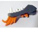 Part No: 93072pb01  Name: Dragon Head (Ninjago) Lower Jaw with White Teeth and Orange Spines Pattern