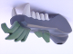 Part No: 93072pb02  Name: Dragon Head (Ninjago) Lower Jaw with White Teeth and Sand Green Spines Pattern