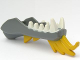 Part No: 93072pb03  Name: Dragon Head (Ninjago) Lower Jaw with White Teeth and Yellow Spines Pattern