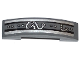 Part No: 93273pb037  Name: Slope, Curved 4 x 1 Double with Black and Silver Stripes, Rivets and Silver Cables Pattern (Sticker) - Set 70722